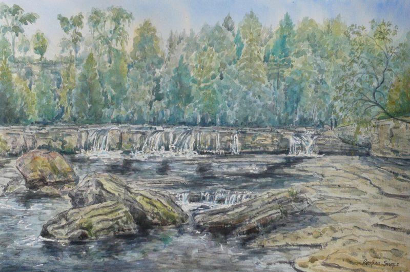 Ayesgarth Falls Art by Richard Stuttle