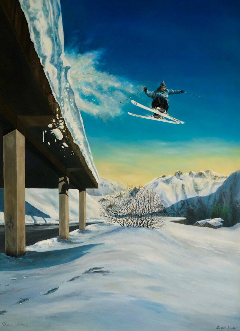 Skiing Art by Richard Stuttle