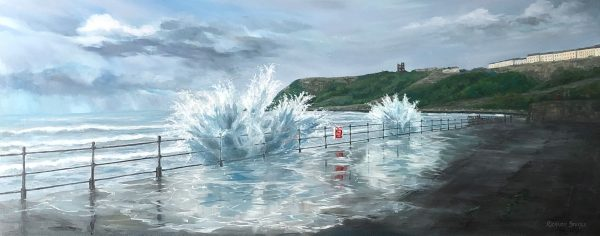 Scarborough Waves Art by Richard Stuttle